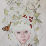 detail work with butterfly, lady bugs, and cicada